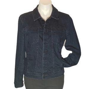 Calvin Klein denim jacket dark wash fitted